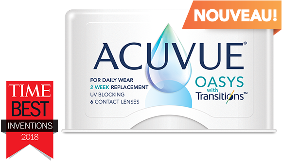 ACUVUE(MD) OASYS avec technologie Lumino-intelligente(TM) Transitions(TM)