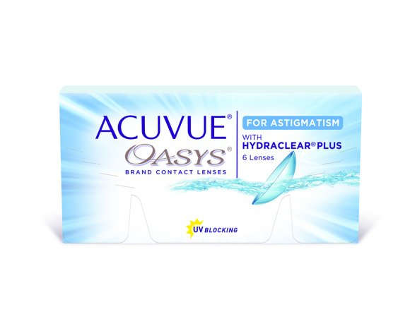 ACUVUE OASYS® Contacts de 2 semaines pour l'astigmatisme