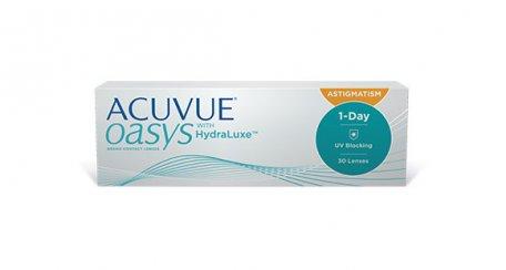 Conditionnement des lentilles cornéennes ACUVUE(MD) OASYS 1-jour pour l'ASTIGMATISME avec technologie HydraLuxe(MD)