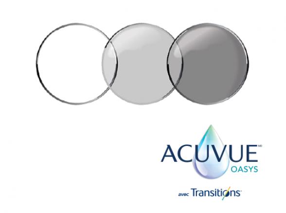 Lentilles cornéennes ACUVUE(MD) OASYS avec Transitions(TM)