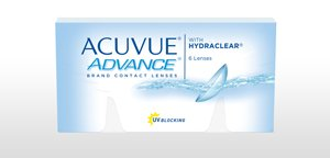 Marque ACUVUE® ADVANCE® avec HYDRACLEAR®